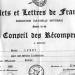 Diplôme des Arts et Lettres de France.